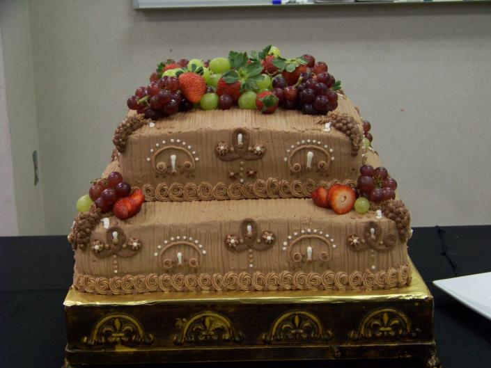 [Image: This dark chocolate cake with Chocolate buttercream icing was made for a Doctor appreciation day for his retirement.