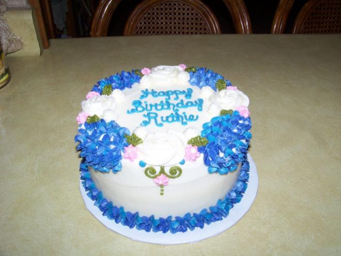 Birthday Cakes Photo Gallery ~ Luxury blue and white birthday cake birthday cake gallery