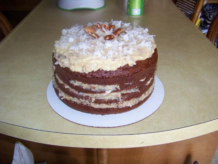 [Image: Try our famous and most delicious German Chocolate Cake!]