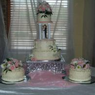 Unique Wedding Cake with Multiple Parts